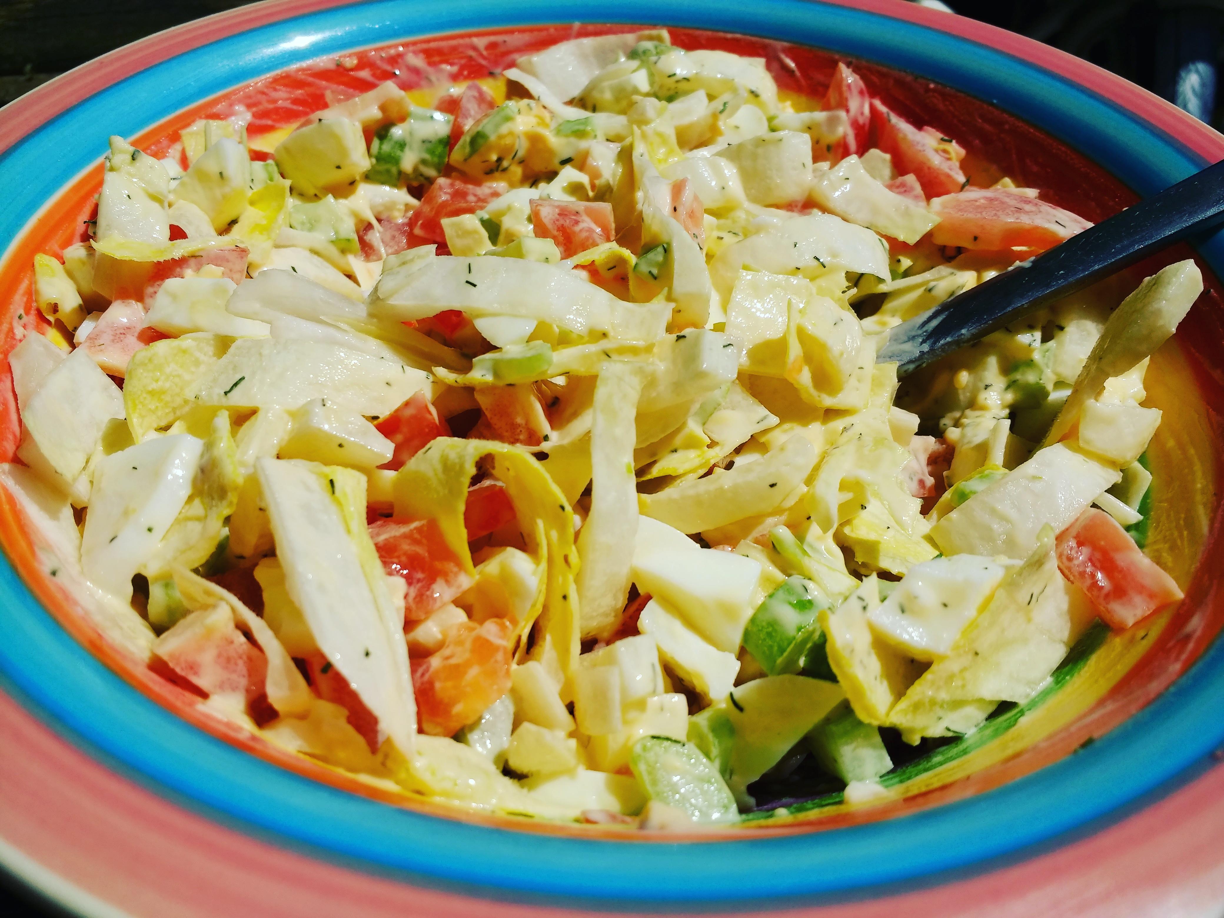 vegetarische ei witlof salade